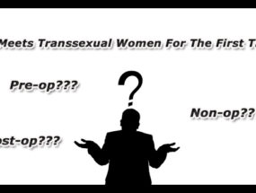 What is the meaning pre-op, post-op, non-op trans woman?
